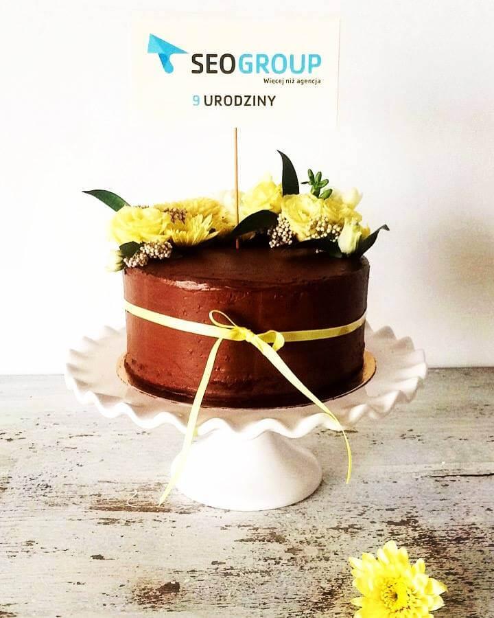 Urodzinowy tort SEOgroup