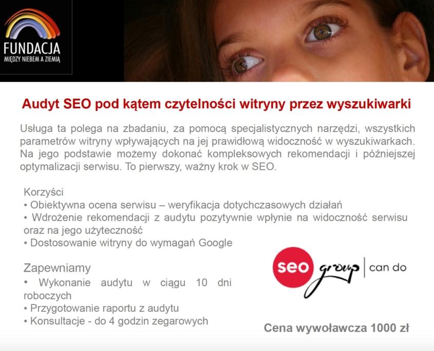 Audyt SEO pod kątem czytelności witryny przez wyszukiwarki
