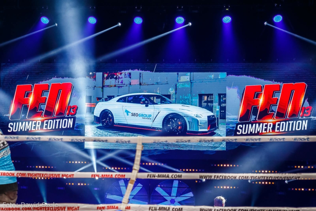 Marka SEOgroup na Gali MMA - FEN 13 Summer Edition w Gdyni