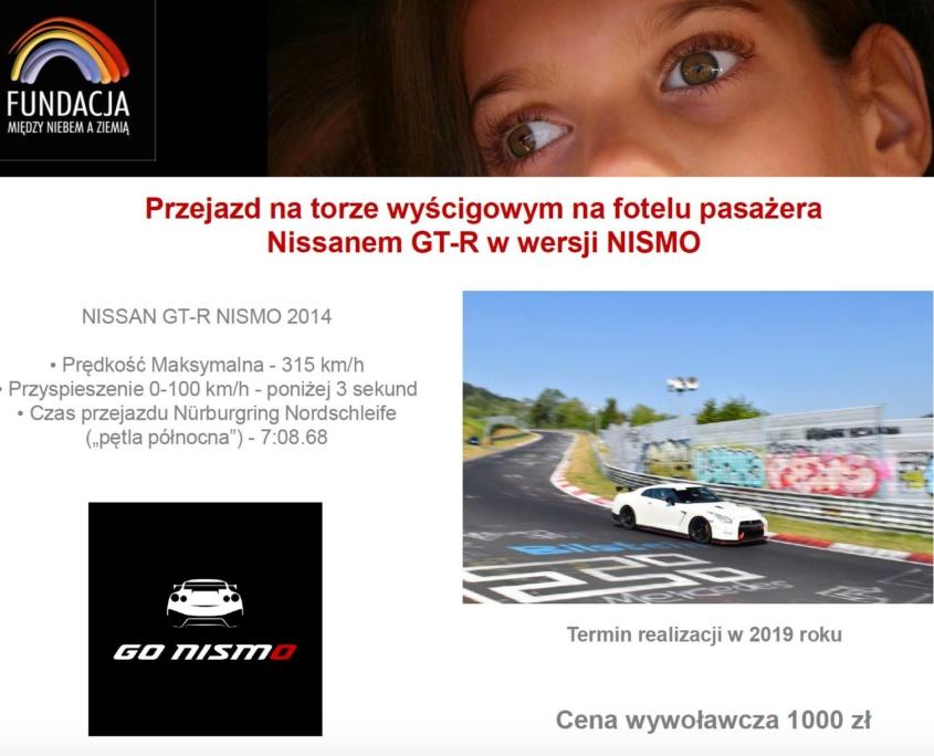 Przejazd na torze wyścigowym na fotelu pasażera Nissan GT-R NISMO